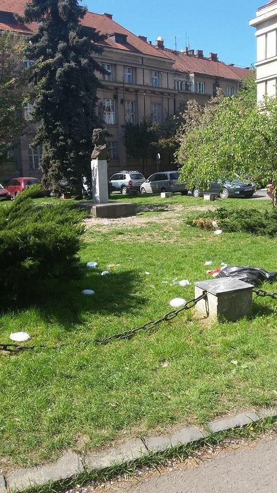 В Ужгороді сміття лежить посеред набережної Незалежності: фотофакт, фото-2