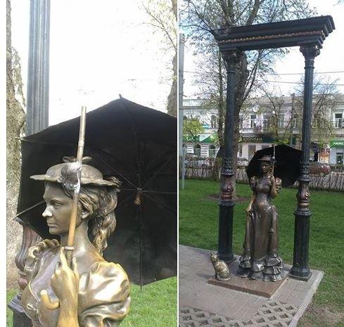 Вандалы сломали контактную скульптуру в центре Сум (ФОТО), фото-1