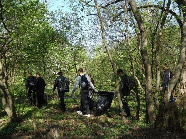 У Житомирі прибирали лісопарк за мостом, фото-1