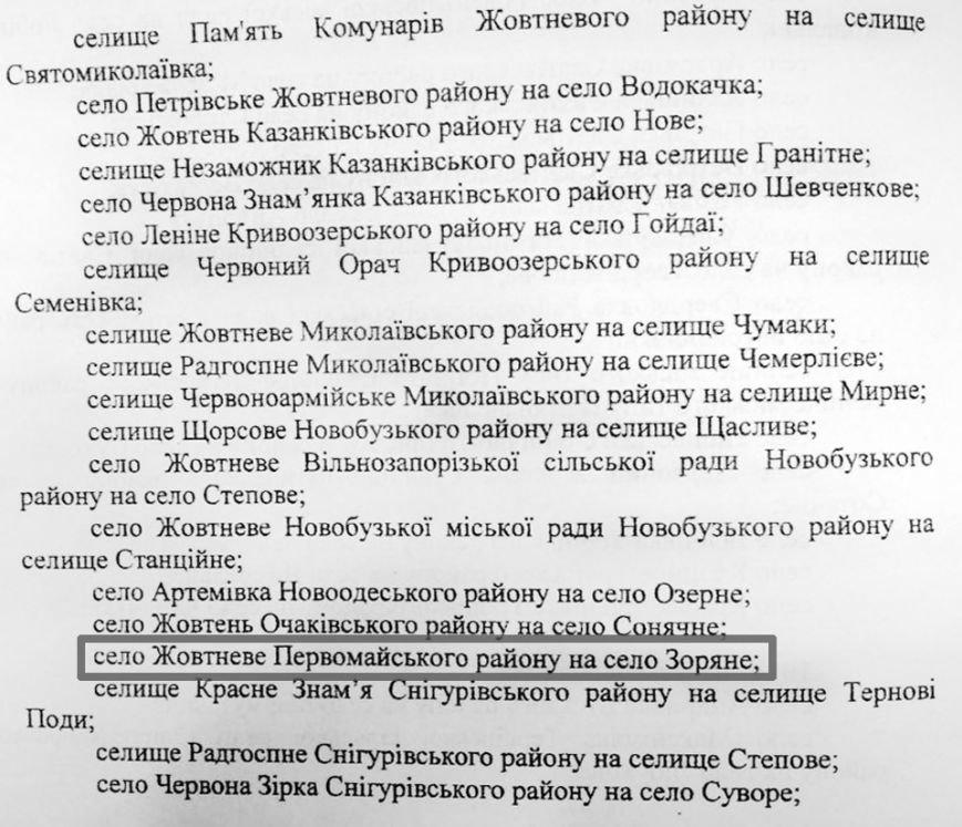 Село Жовтневое Первомайского района может стать Зоряным (фото) - фото 1