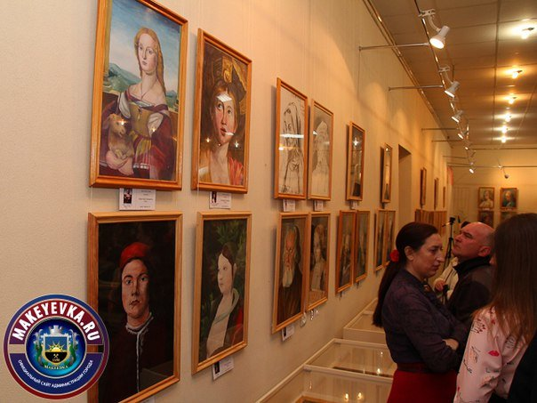 В Макеевке открылась выставка портретов-копий произведений известных художников (фото) - фото 2