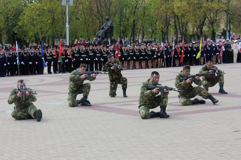 Кадеты прошли парадом по главной площади Белгорода, фото-9