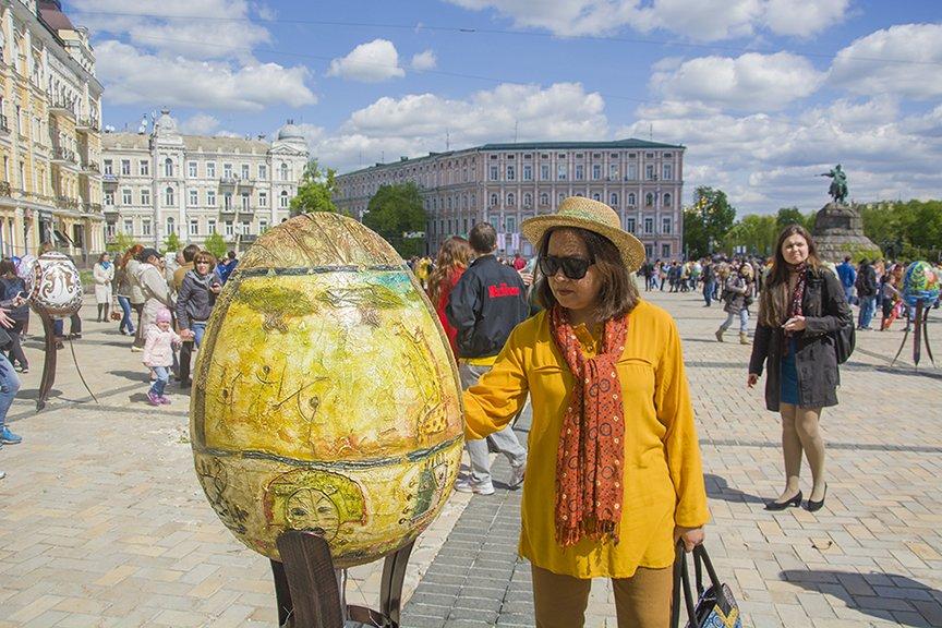 В Киеве на Софийской площади открылся фестиваль писанок (ФОТОРЕПОРТАЖ) (фото) - фото 1