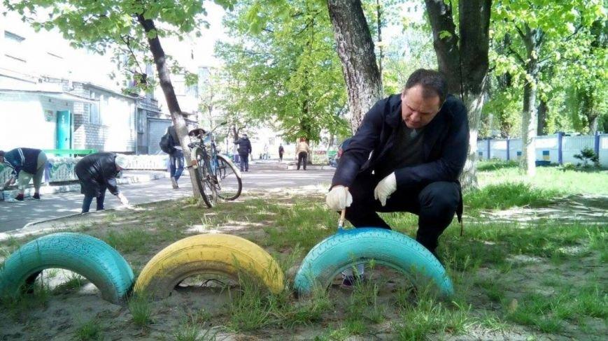 Как в Кременчуге на субботнике убирались мэр, заместители, депутаты и другие жители города, фото-3