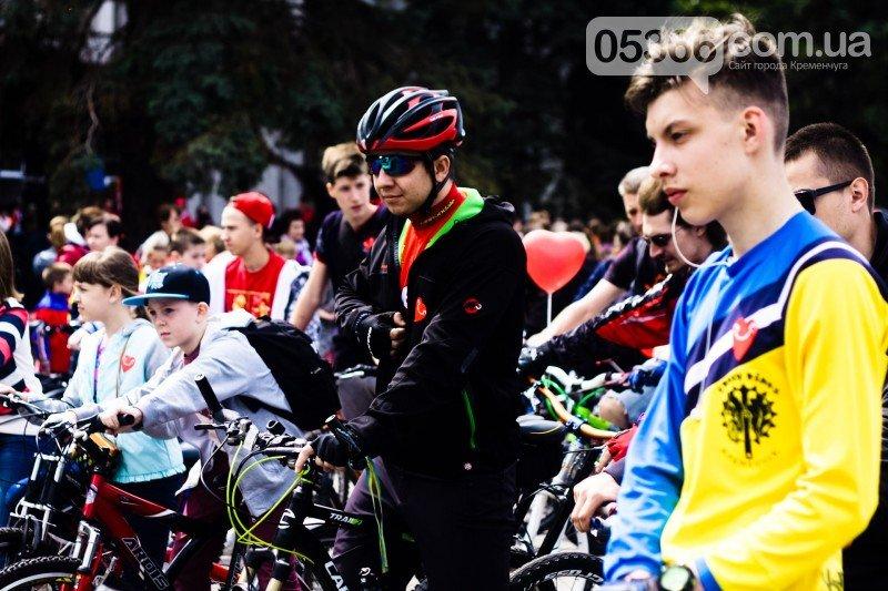 """Кременчугские велосипедисты открыли сезон и впервые стали """"сердце к сердцу"""" (ВИДЕО), фото-5"""