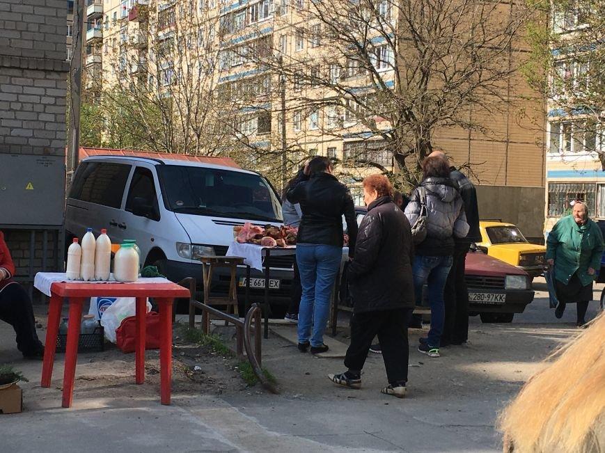 Полиция штрафует торгующих на стихийных рынках, а криворожане выстраиваются к ним в очередь за молоком и мясом (ФОТО), фото-9