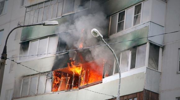 В Кременчуге 24 апреля в центре города горел балкон, фото-1
