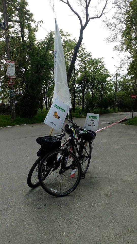 6b50849322add44a3e703c7fe66eda85 Одесские велосипедисты перекрыли часть Трассы здоровья для автохамов
