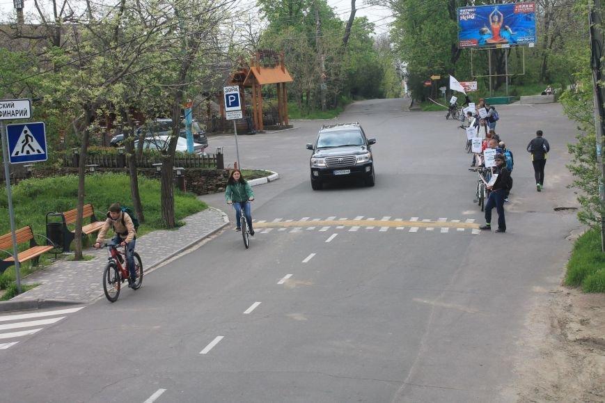 b3650502126723b4683df120ef06ccd0 Одесские велосипедисты перекрыли часть Трассы здоровья для автохамов