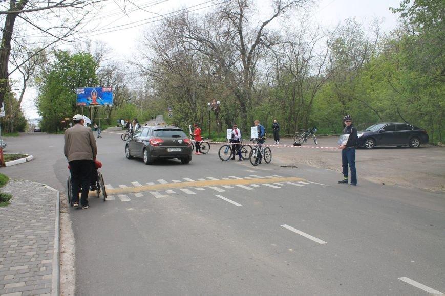ee00f2690d3b958f9da7bc71f6adffdd Одесские велосипедисты перекрыли часть Трассы здоровья для автохамов