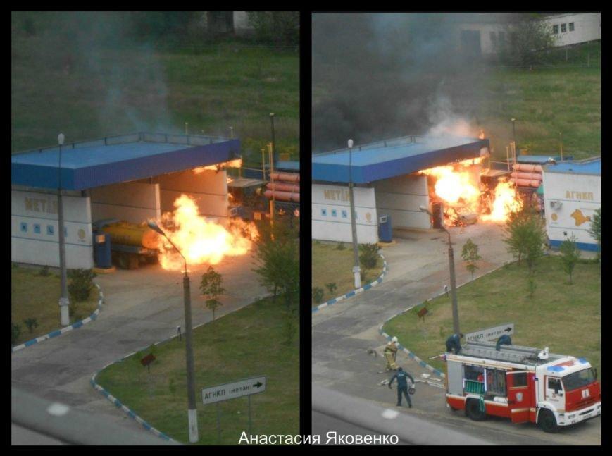 Взрыв на АЗС в Крыму: Сгорел Daewoo и газовая колонка (фото) - фото 1