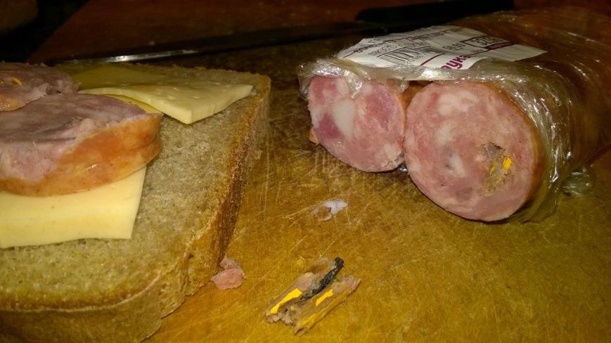 Курйоз дня: львів'янин знайшов олівець у ковбасі (ФОТО) (фото) - фото 1