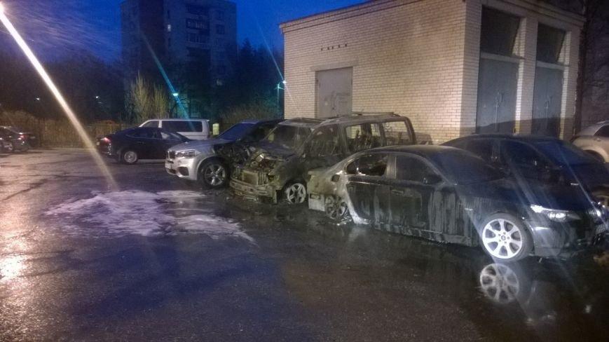 Ночью в Пушкине сгорели пять иномарок (фото) - фото 1