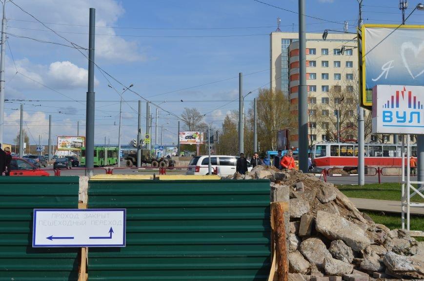 Вблизи закрытого подземного перехода в Витебске пешеходам приходится бегом пересекать проезжую часть, фото-4