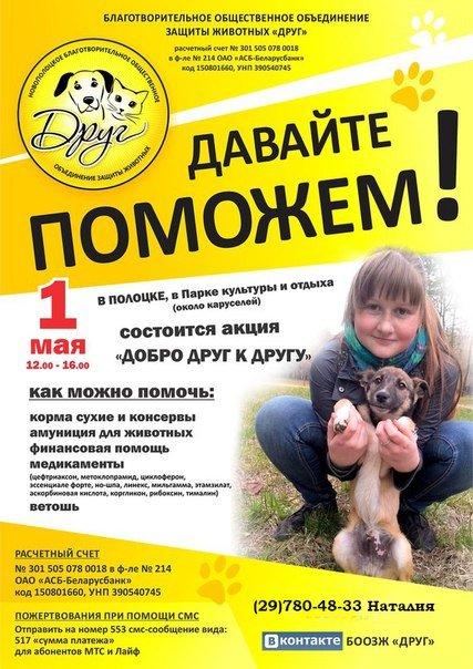 Акция «Добро друг к другу» пройдет в Полоцке 1 мая (фото) - фото 1