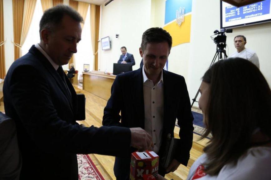 """Во время сессии Кременчугского горсовета волонтёры акции """"Сердце к сердцу"""" собрали 4 262 гривны, фото-5"""