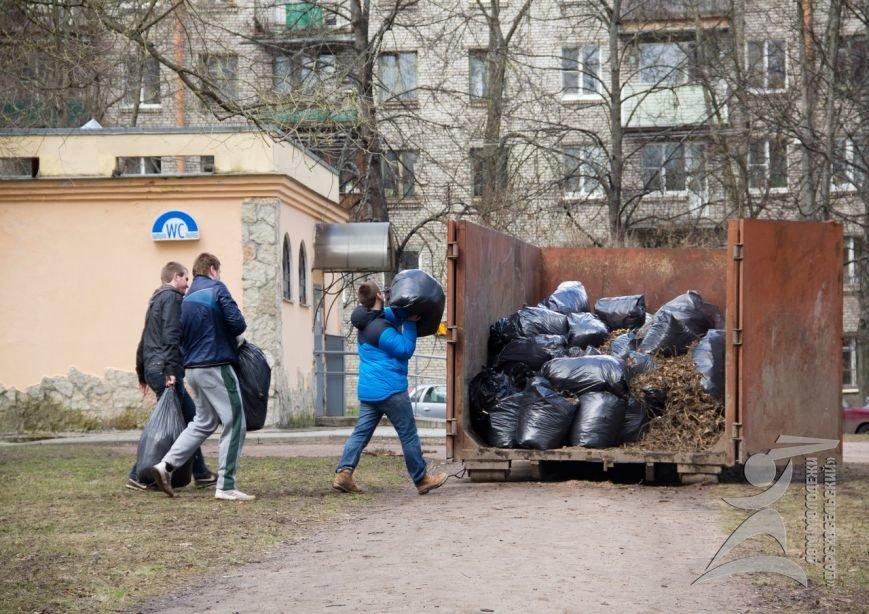 Во время общегородского субботника в Пушкине трое жителей
