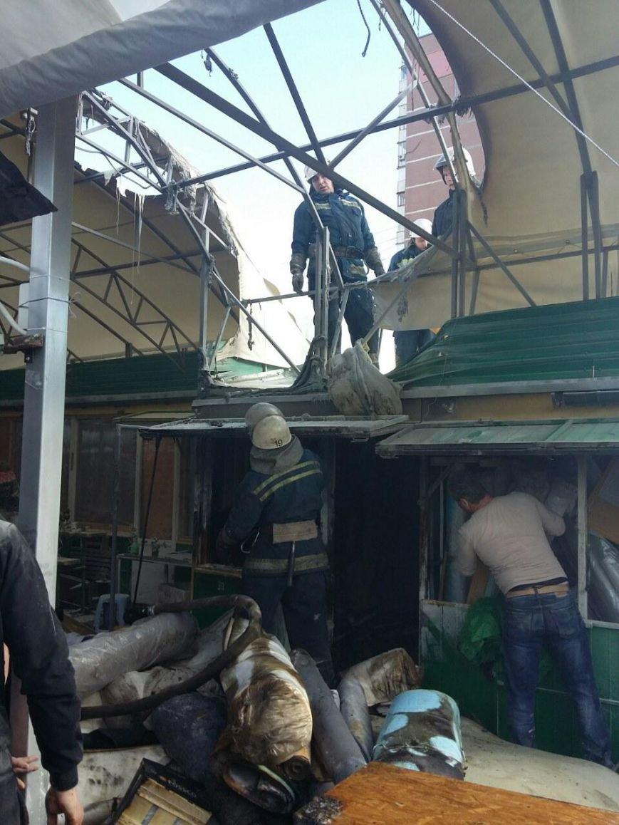 В Киеве горел рынок