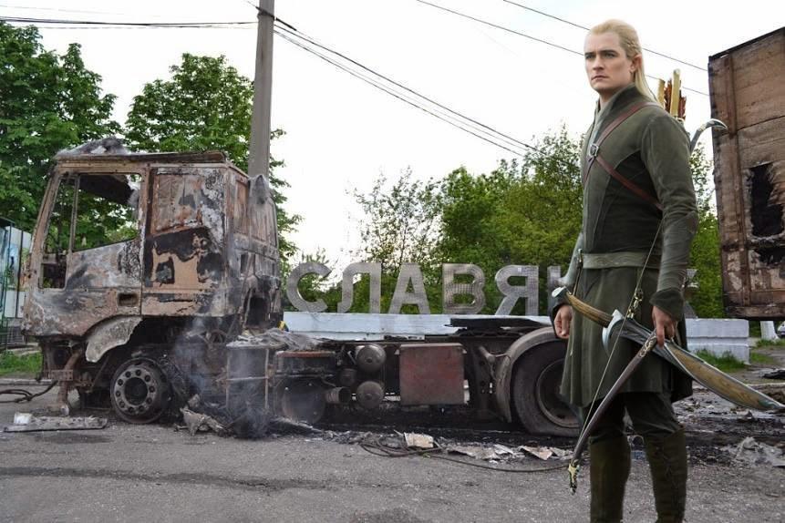 Актер Орландо Блум в качества посла доброй воли посетил Донбасс
