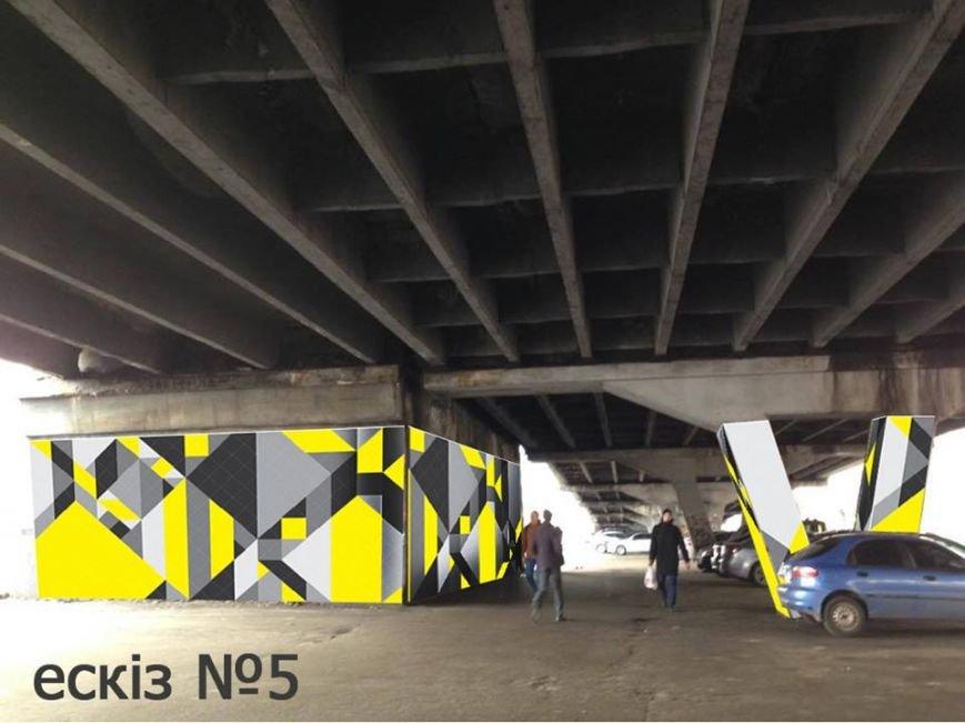 В мае на Шулявке разрисуют опоры моста (фото) - фото 5