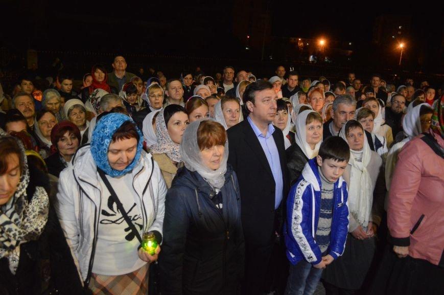 В Северодонецке прошло ночное богослужение в честь Пасхи (ФОТО), фото-1
