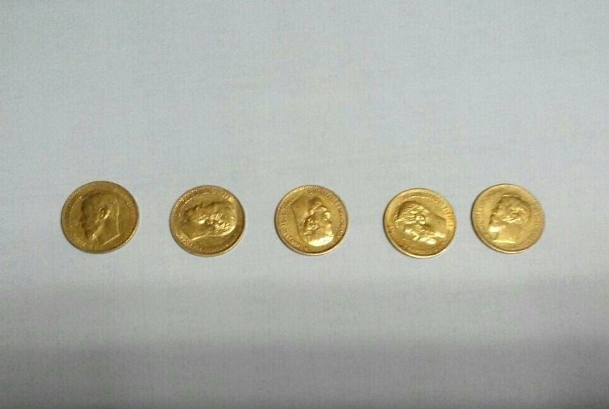 Золотые монеты пытались вывезти из Черниговской области в Россию, фото-1