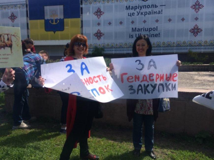 """Мариупольский """"креативный класс"""" вышел на Немонстрацию  и с транспарантами прошел по центру города(ФОТО, ВИДЕО), фото-3"""