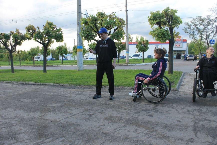 В Краматорске состоялись гонки на инвалидных колясках, фото-4