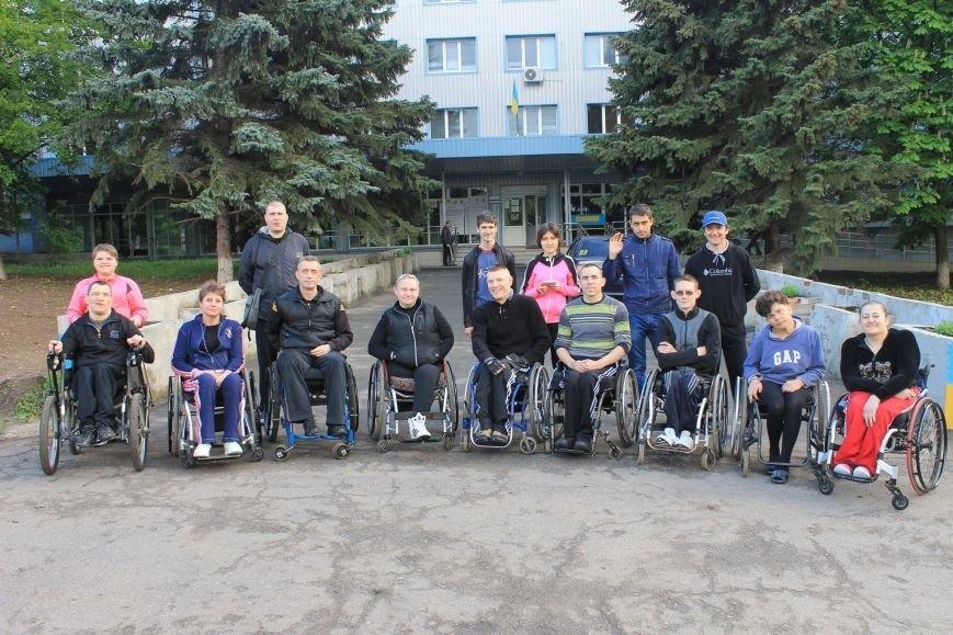В Краматорске состоялись гонки на инвалидных колясках, фото-3