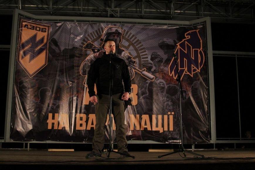 В Бердянске прошло праздничное шествие полка АЗОВ, фото-10