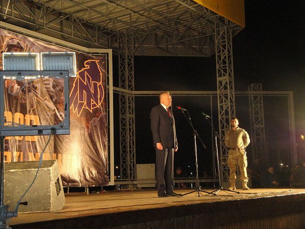 В Бердянске прошло праздничное шествие полка АЗОВ, фото-11