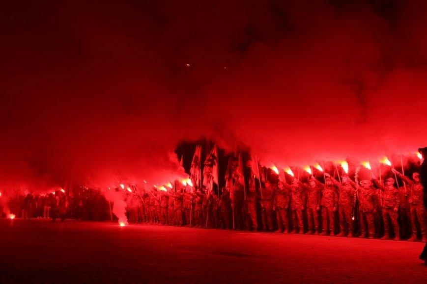 В Бердянске прошло праздничное шествие полка АЗОВ, фото-16