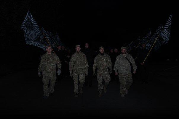 В Бердянске прошло праздничное шествие полка АЗОВ, фото-6