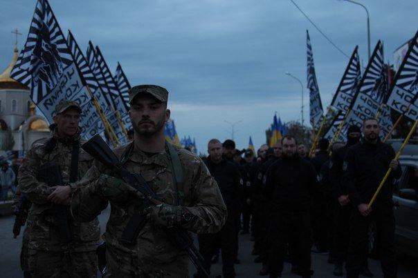 В Бердянске прошло праздничное шествие полка АЗОВ, фото-5