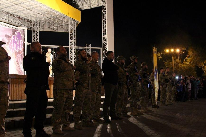 В Бердянске прошло праздничное шествие полка АЗОВ, фото-14