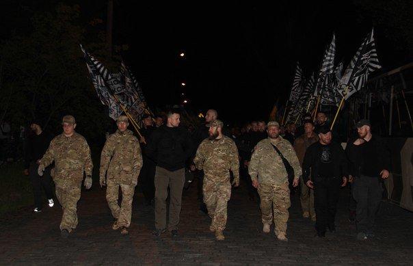 В Бердянске прошло праздничное шествие полка АЗОВ, фото-7