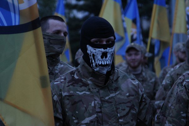 В Бердянске прошло праздничное шествие полка АЗОВ, фото-4
