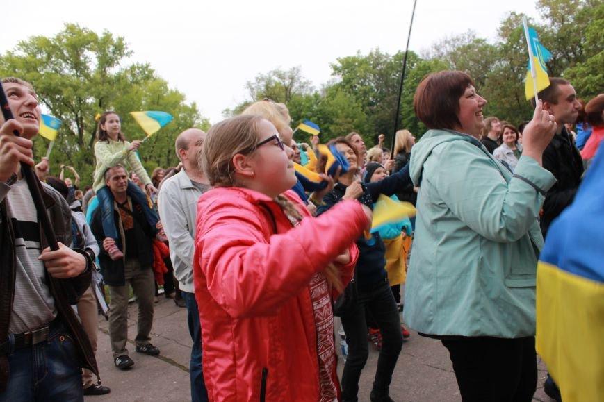 Сотні мешканців м. Селидове зібралися на патріотичному концерті, фото-11