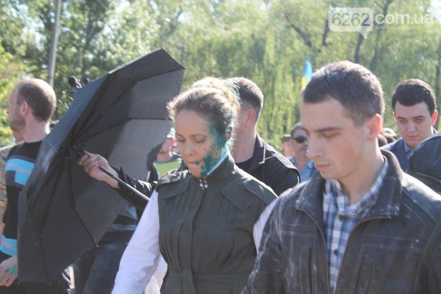 В Славянске Королевскую облили зеленкой и посыпали мукой (ФОТО), фото-2
