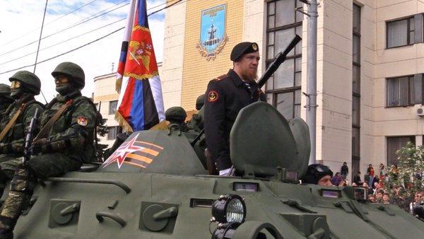 В оккупированном Донецке боевики провели военный парад (ФОТО, ВИДЕО), фото-4