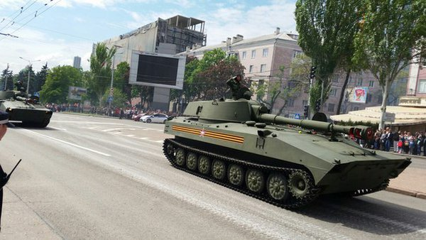 В оккупированном Донецке боевики провели военный парад (ФОТО, ВИДЕО), фото-8