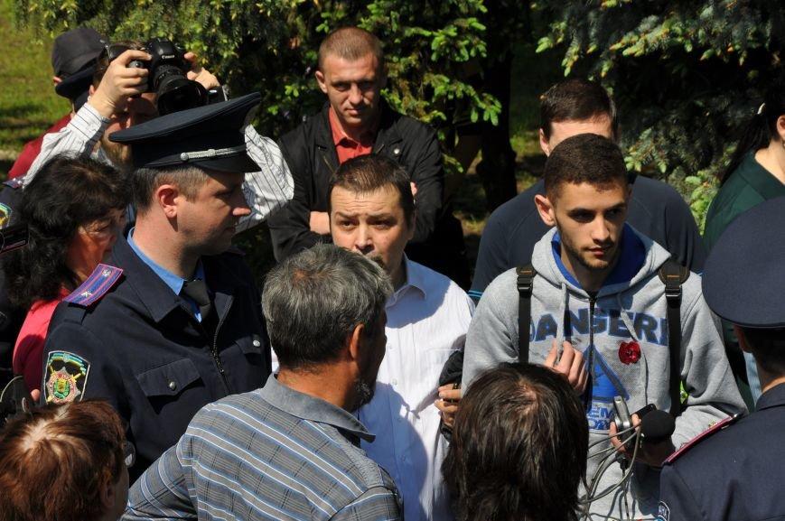 Краматорская «Свобода» очищала митинг от георгиевских лент (ВИДЕО), фото-14
