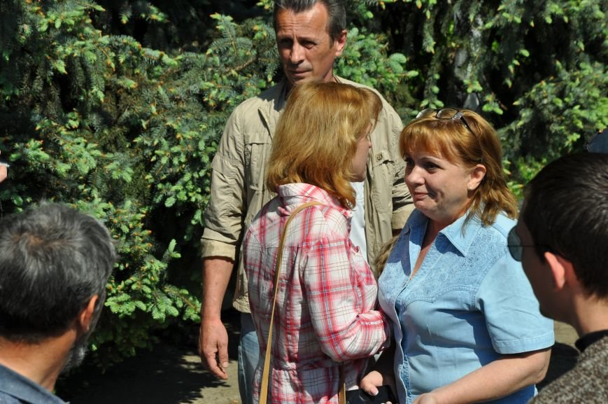 Краматорская «Свобода» очищала митинг от георгиевских лент (ВИДЕО), фото-11
