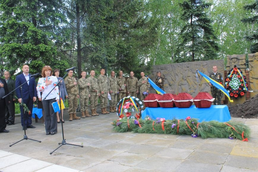 В Добропольском районе провели перезахоронение советских солдат, фото-1