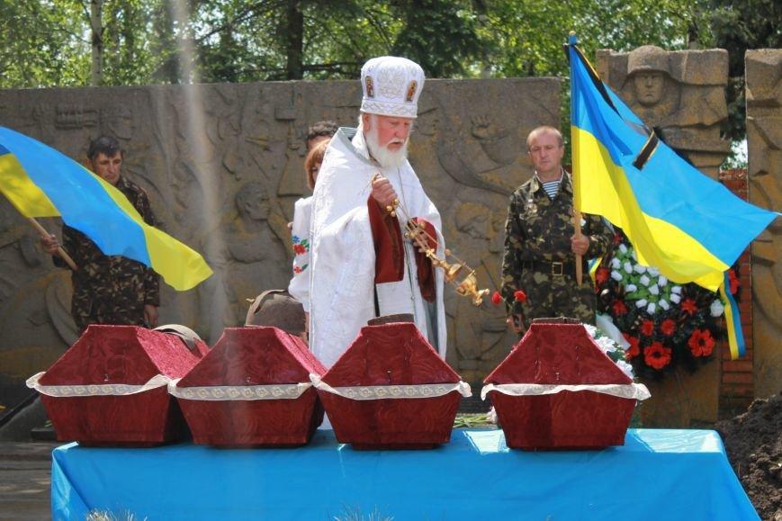 В Добропольском районе провели перезахоронение советских солдат, фото-10
