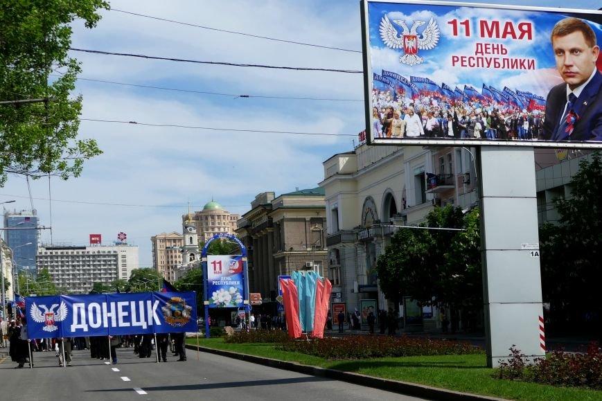В Донецке на «праздничное» шествие в честь годовщины «ДНР» свезли тысячи людей (ФОТО), фото-5