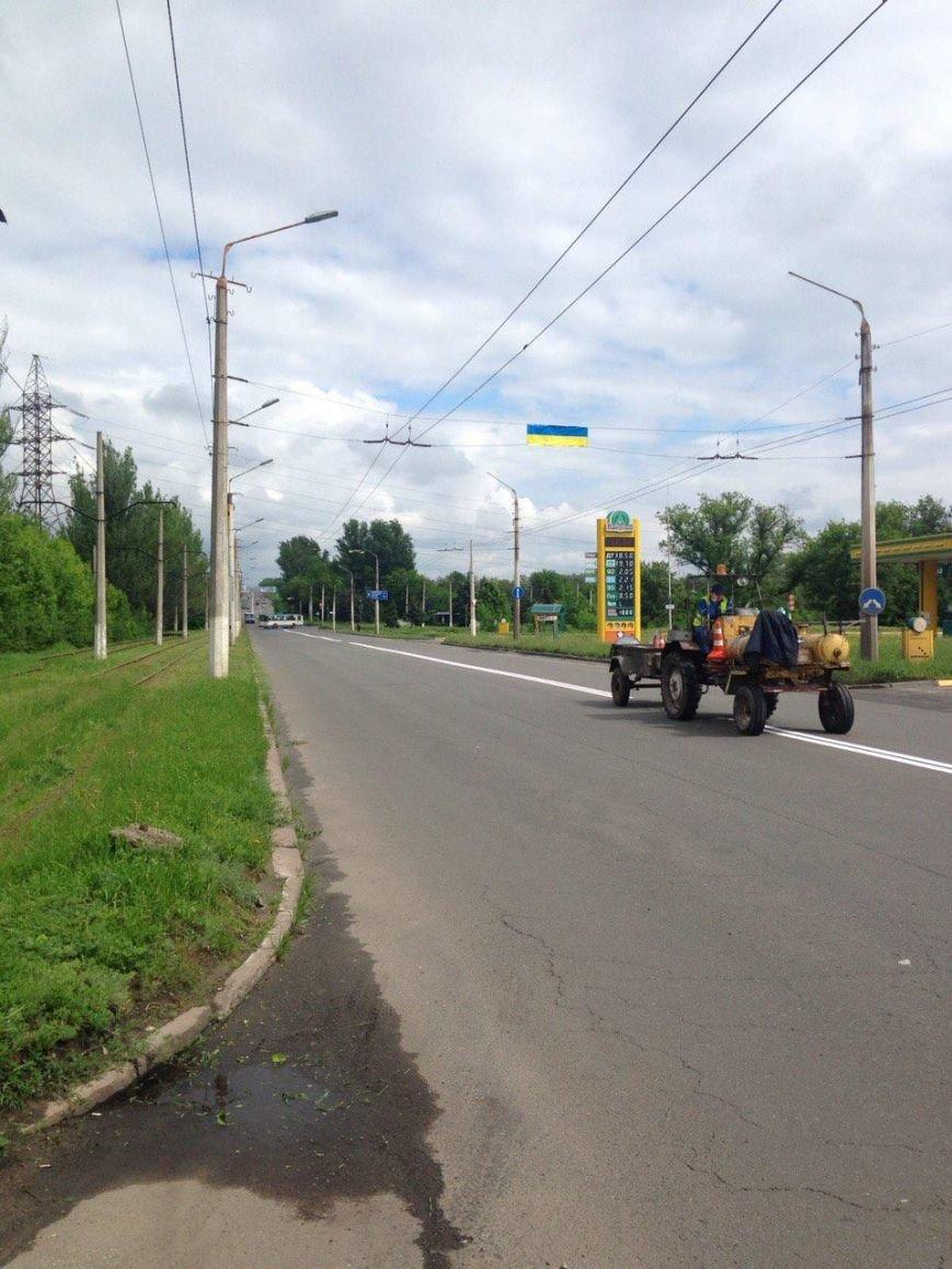 К приезду Порошенко главная транспортная артерия Краматорска будет с разметкой (ФОТО), фото-3