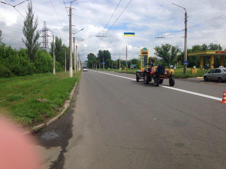 К приезду Порошенко главная транспортная артерия Краматорска будет с разметкой (ФОТО), фото-1