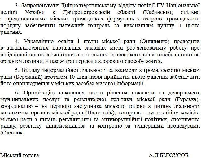Днепродзержинский горсовет подготовил проект решения о запрете ночной продажи алкоголя, фото-2