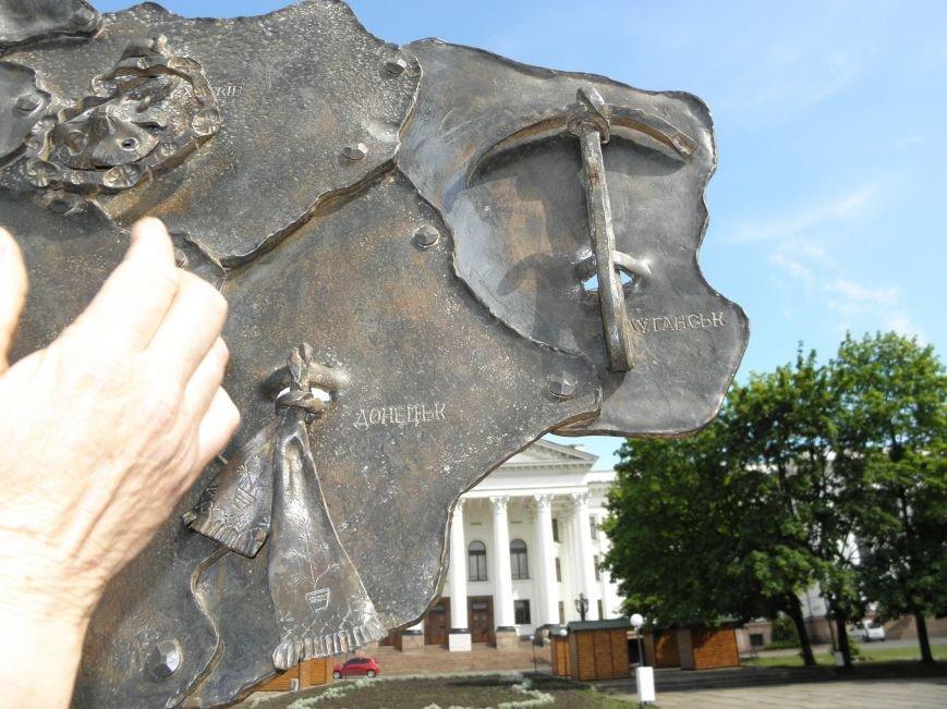 В Краматорске на центральной площади установили кованную карту Украины, фото-3